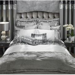 Adriana white two tone sequins duvet set