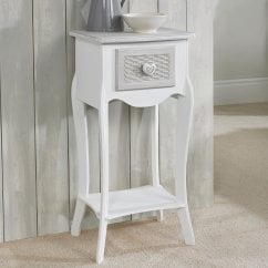 Brittany vintage shabby chic 1 drawer side table