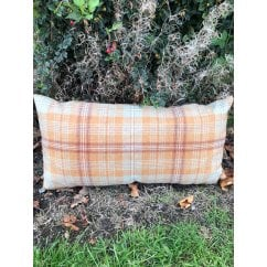 Harvest burnt orange feather filled cushion, 60x30cm