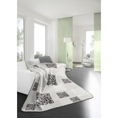 "Chill time ""qr-code"" barcode grey blanket"