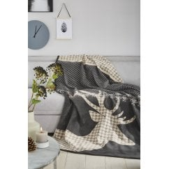 Messina Stord stag print blanket 150 x 200cm