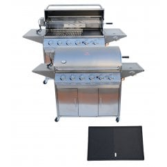 Stainless steel six burner gas bbq