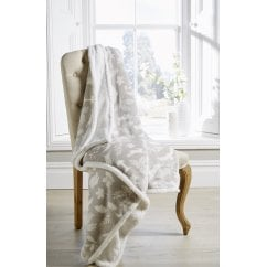 christmas grey woodland sherpa throw