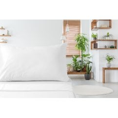 Aloe vera white 100% cotton duvet set
