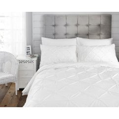 Naples white 100% cotton duvet set