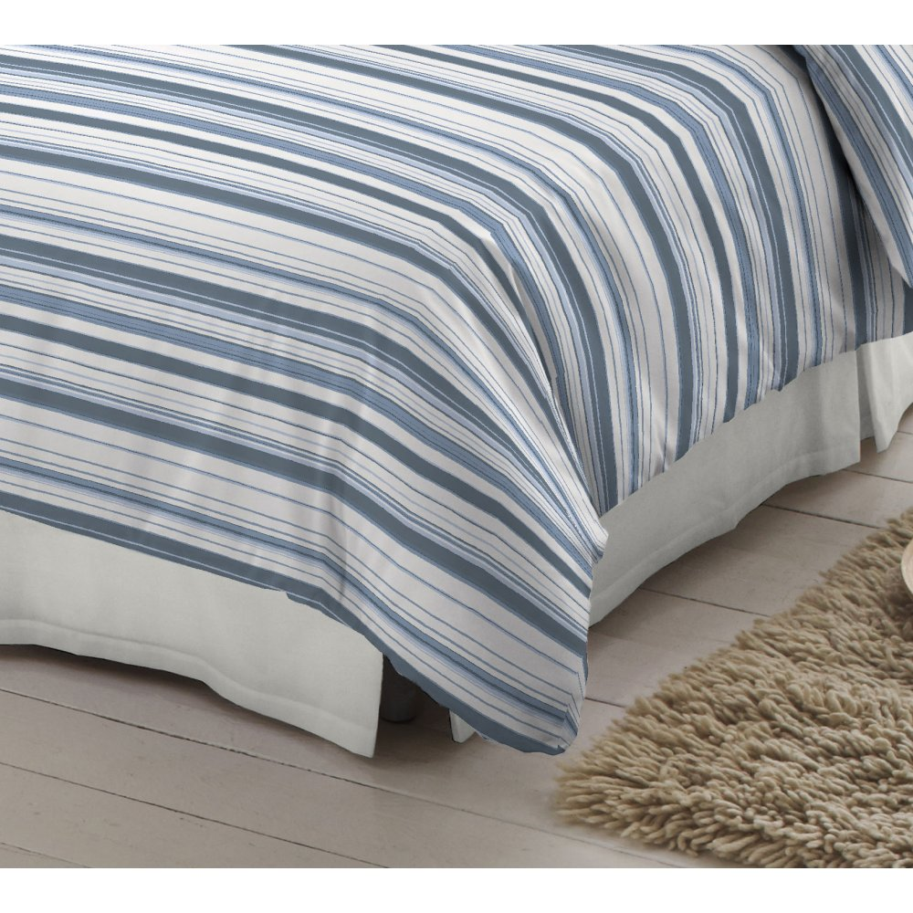 Dormisette Blue And White Striped 100 Brushed Cotton